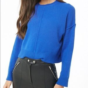 Blue Reverse Seam Sweater